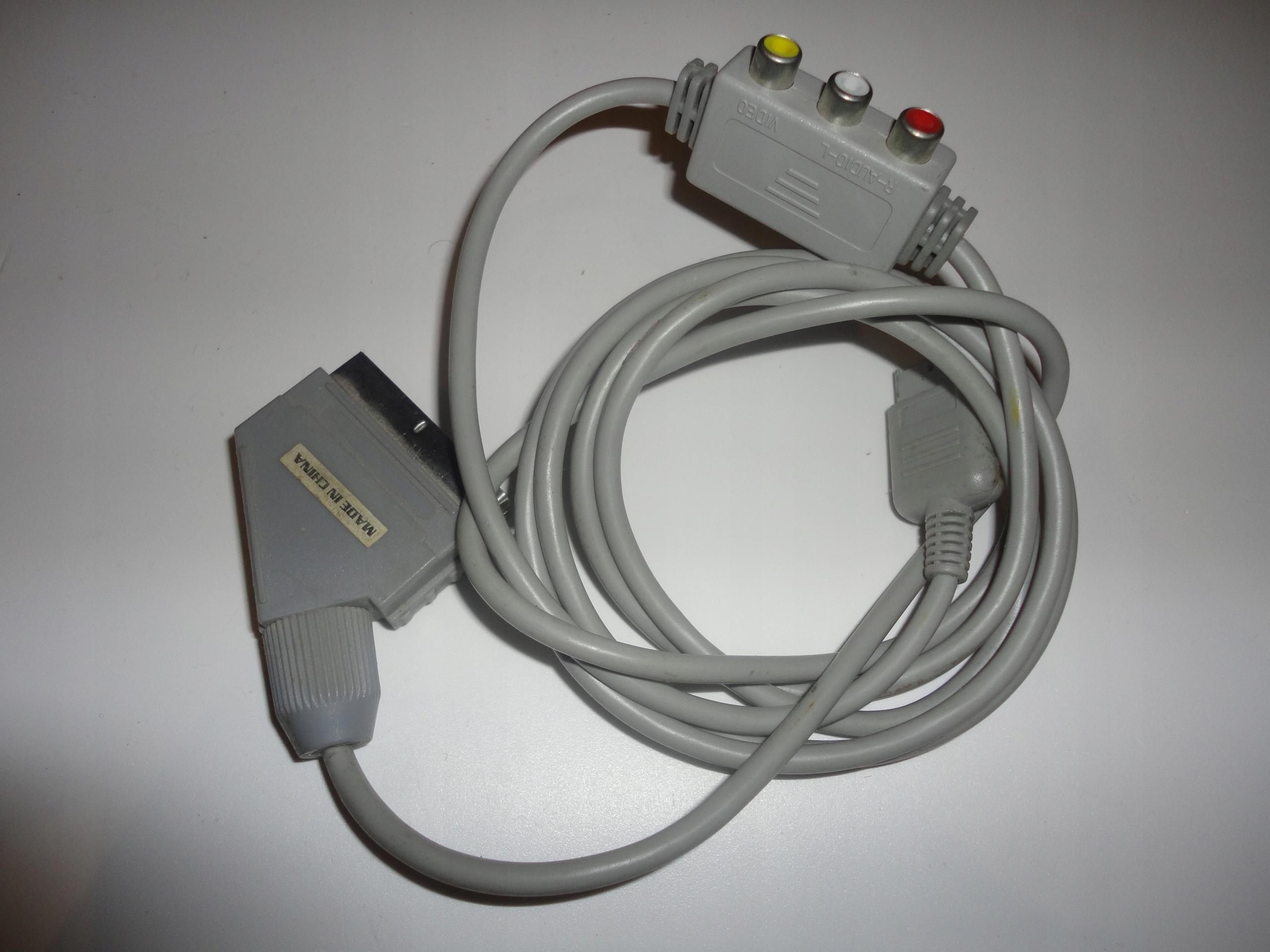 KABEL RGB SCART + RCA CINCH EURO ZŁĄCZE