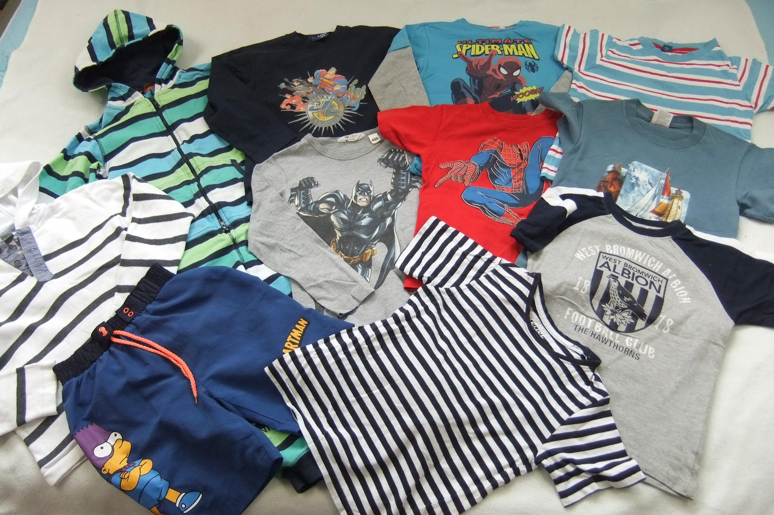 ubranka dla chłopca 110/116 zestaw bluzki spodnie