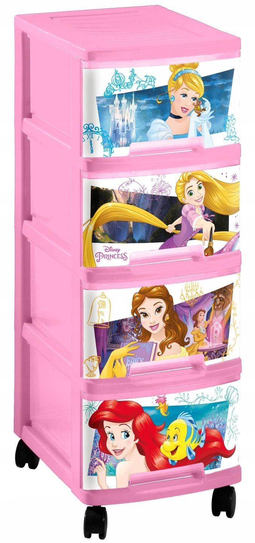 CURVER Regał 4 x 10L Disney Princess 232343