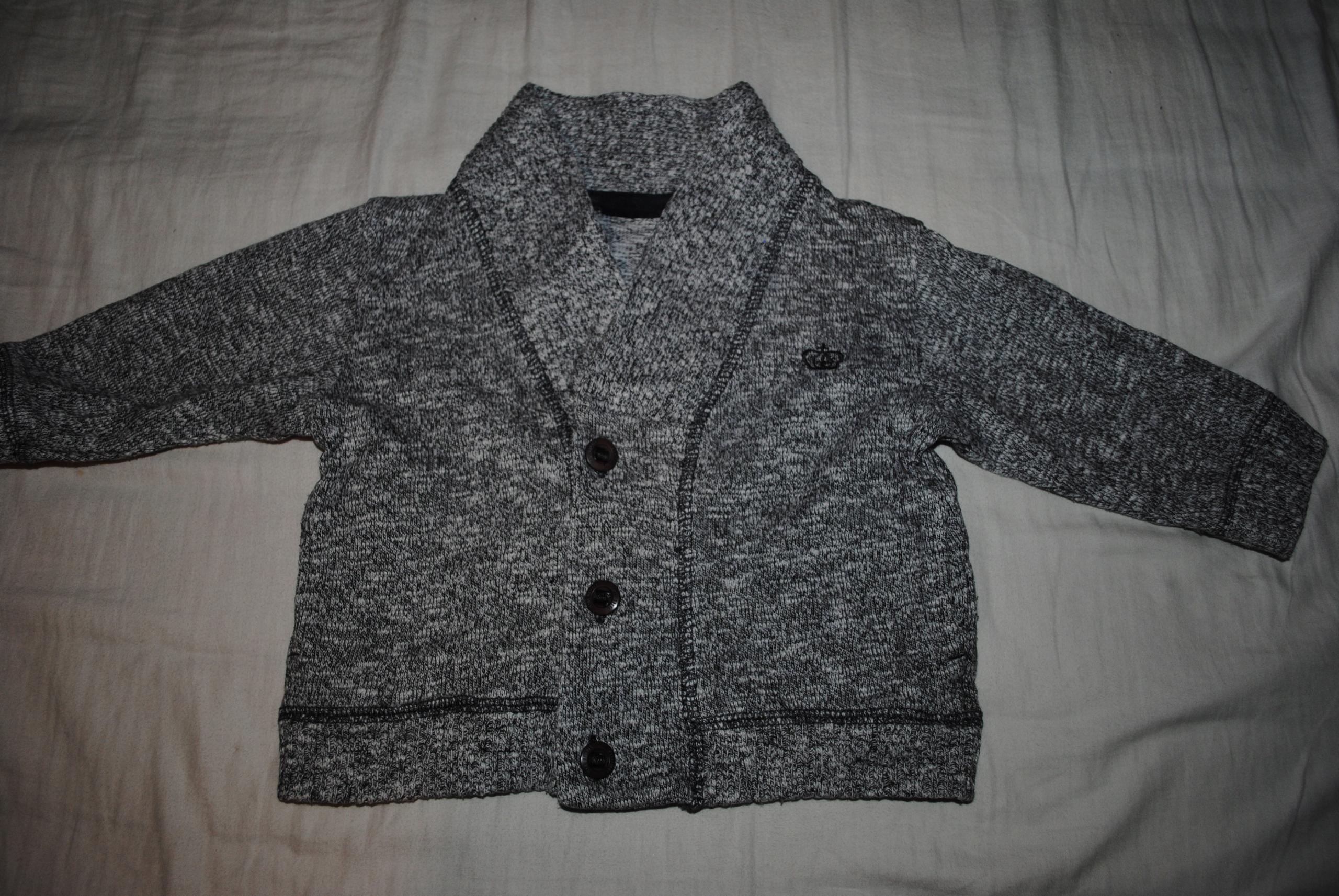 NEXT cudny elegancki sweterek szary melanż OKAZJA!