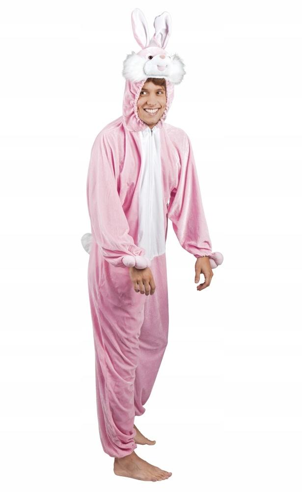 Strój kostium przebranie KRÓLIK roz. L max 195 cm