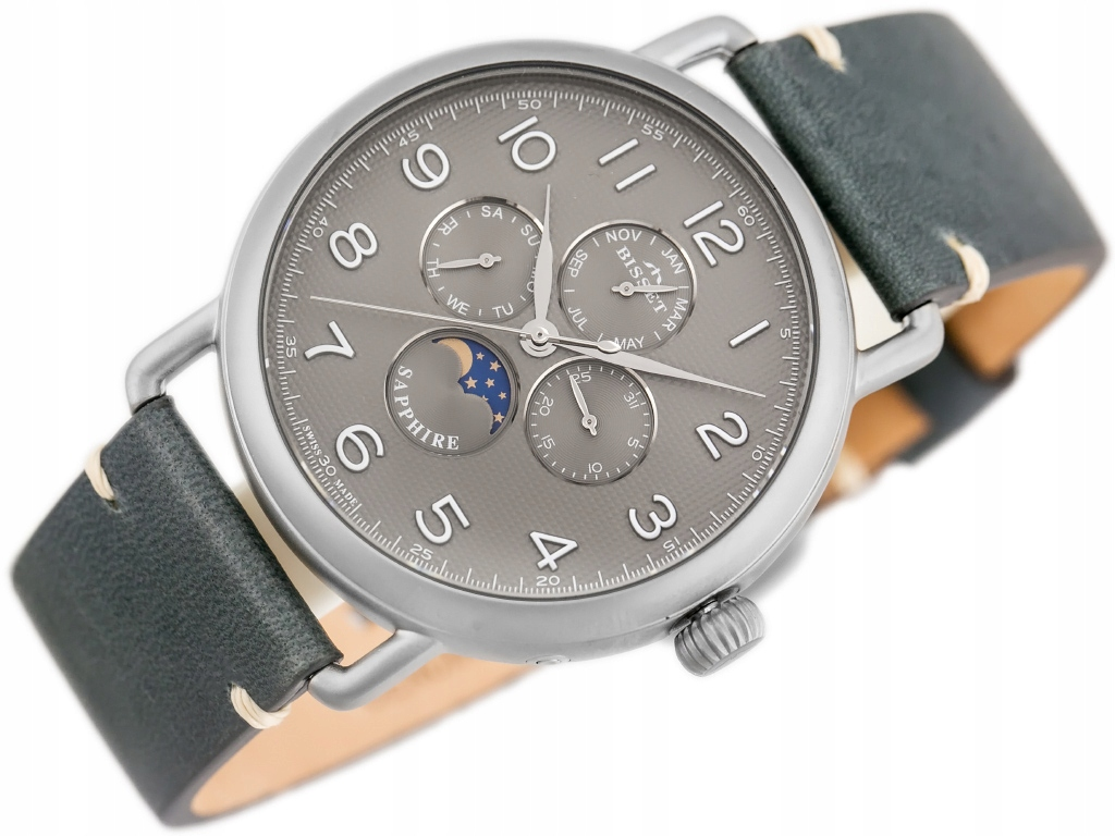 Zegarek BISSET BSCF18 - (zb083c) SZAFIROWE SZKŁO