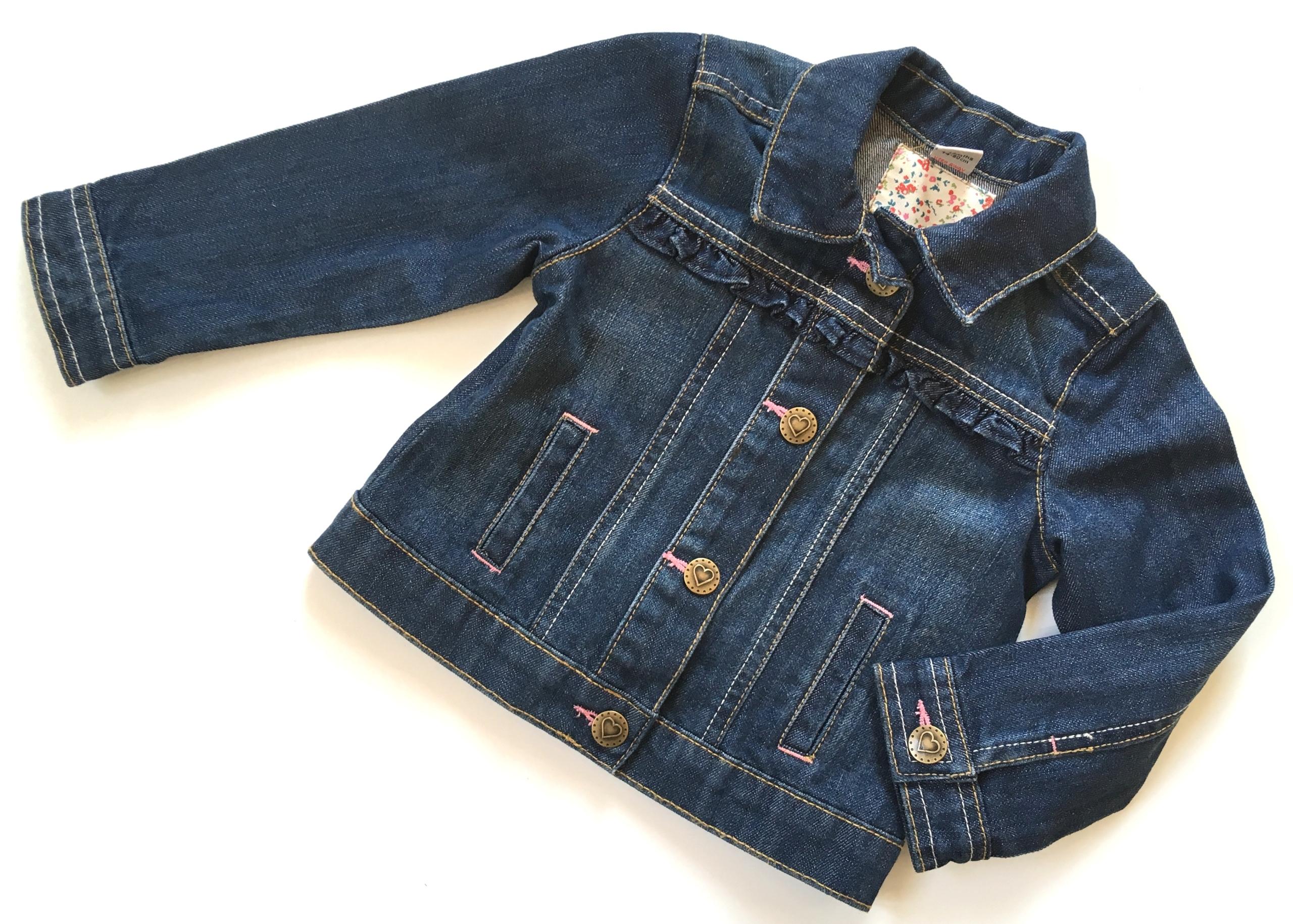 TU kurteczka jeans falbanki 74/80 9-12m
