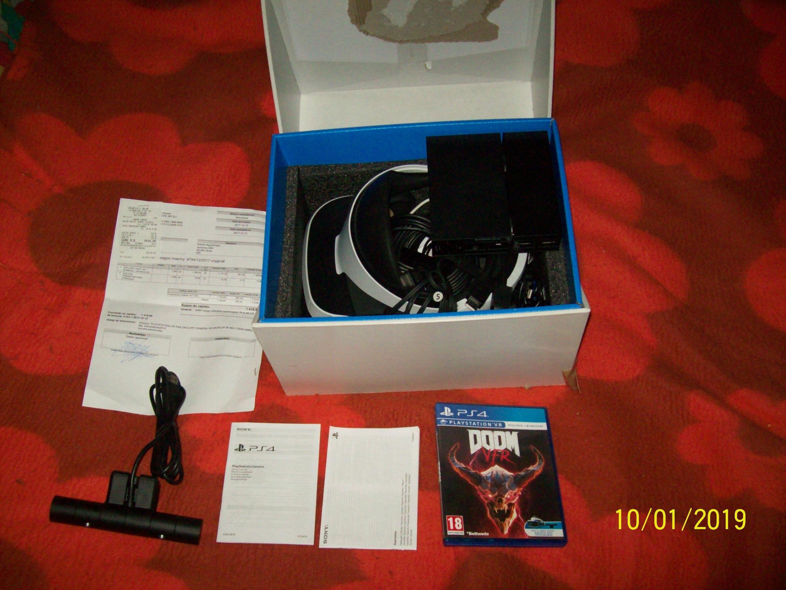 Playstation VR + kamera V2 + gw. do 12.2019 + DOOM