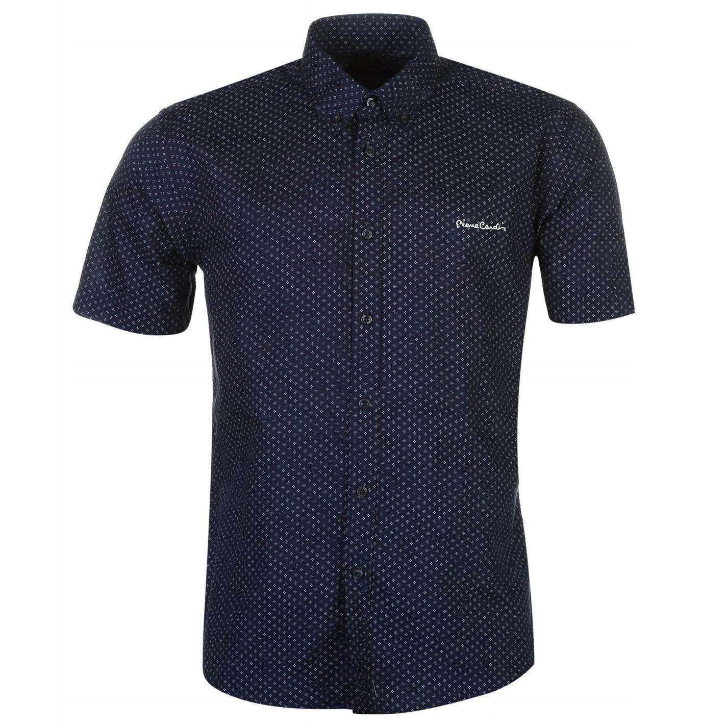 E1826 PIERRE CARDIN koszula krótki rękaw męska XXL