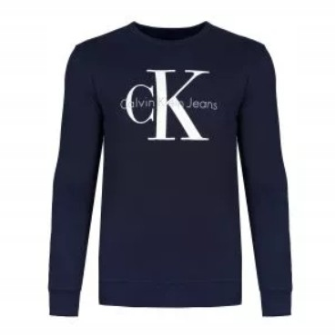 Calvin Klein Bluza Męska Granat Logo Sportowa L