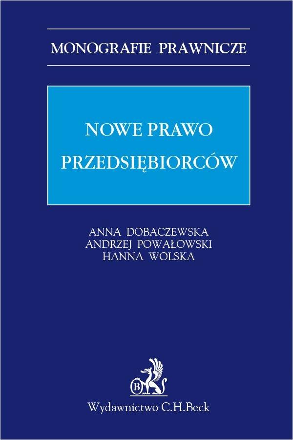 Nowe prawo przedsiębiorców Hanna Wolska