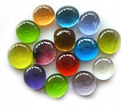 6272 Kolorowe Szklane Kamyczki Dekoracyjne 500g