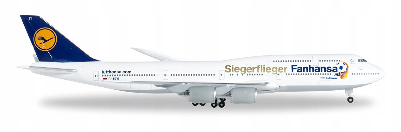 Model Lufthansa Siegerflieger Fanhansa HERPA, 2p58