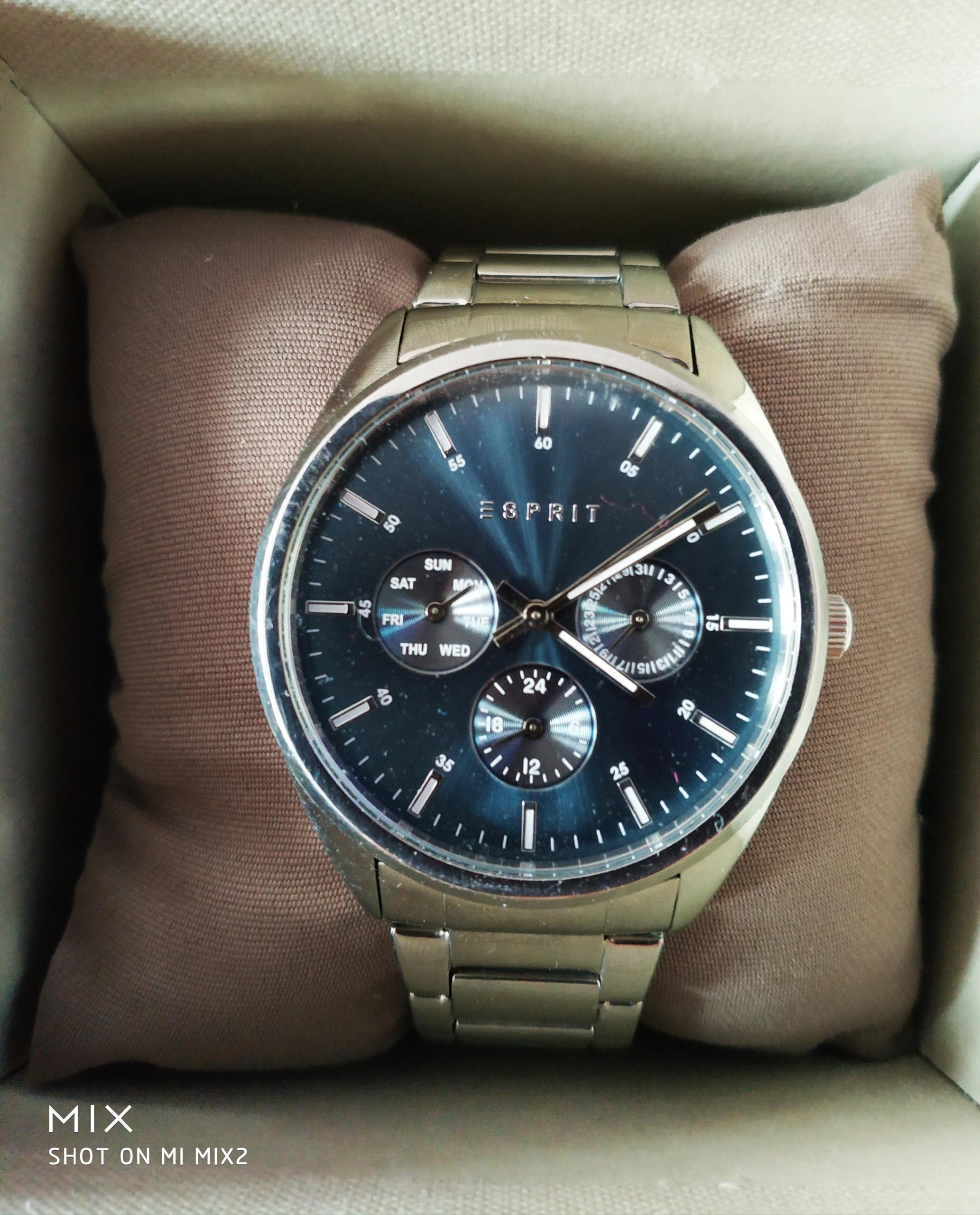 ESPRIT Glandora klasyczny zegarek granatowa tarcza