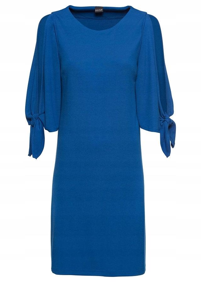 2305b6a5bb Sukienka z dżerseju z rozci niebieski 36 S 938245 - 7547343894 ...