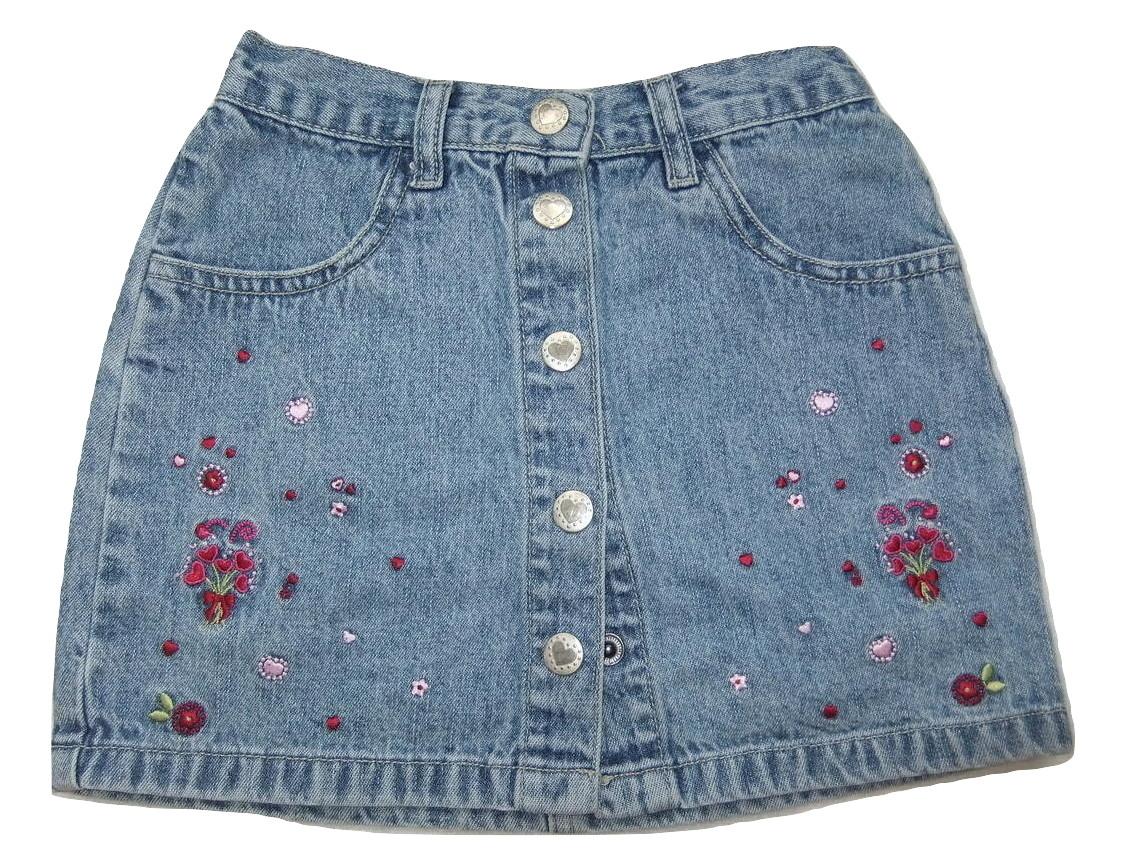 jeansowa spódniczka 104cm H&M