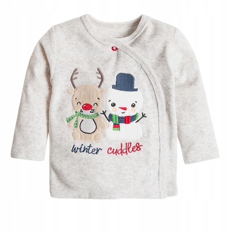 COOL CLUB świąteczna bluzeczka niemowlęca r. 62