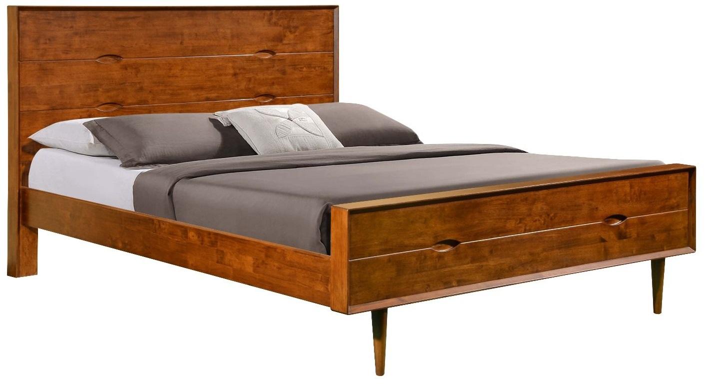Nowoczesne łóżko Tasmania 160x200 Brązowe Vinotti