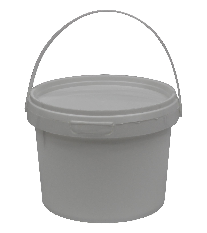 Wiadra Białe + przykrywka 0,6L 4szt Atest PZH