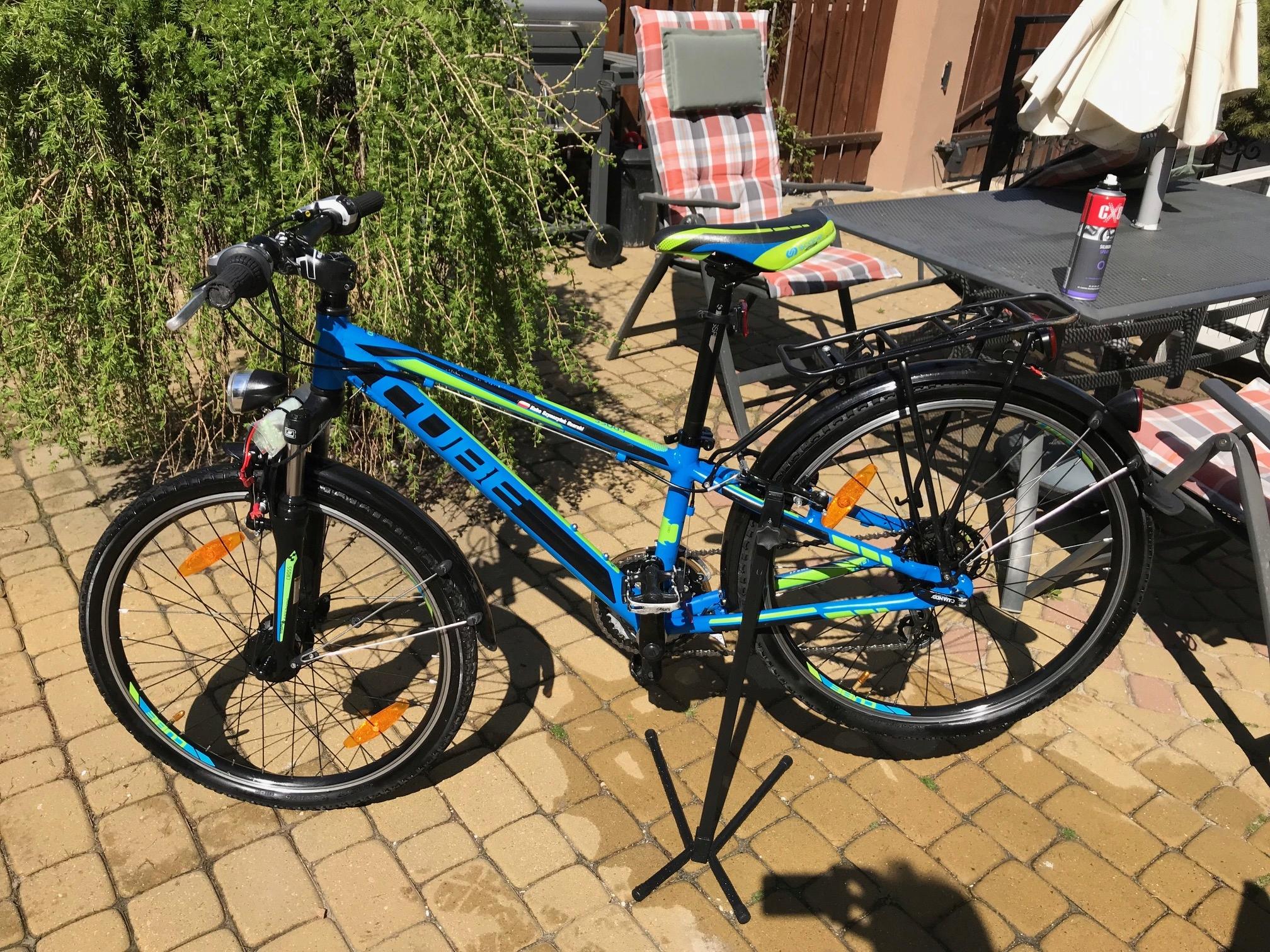 Rowerek dziecięcy CUBE Cross niebieski/zielony