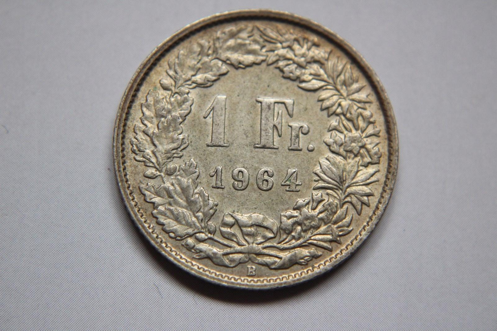 1 FRANK 1964 SZWAJCARIA SREBRO - CC851