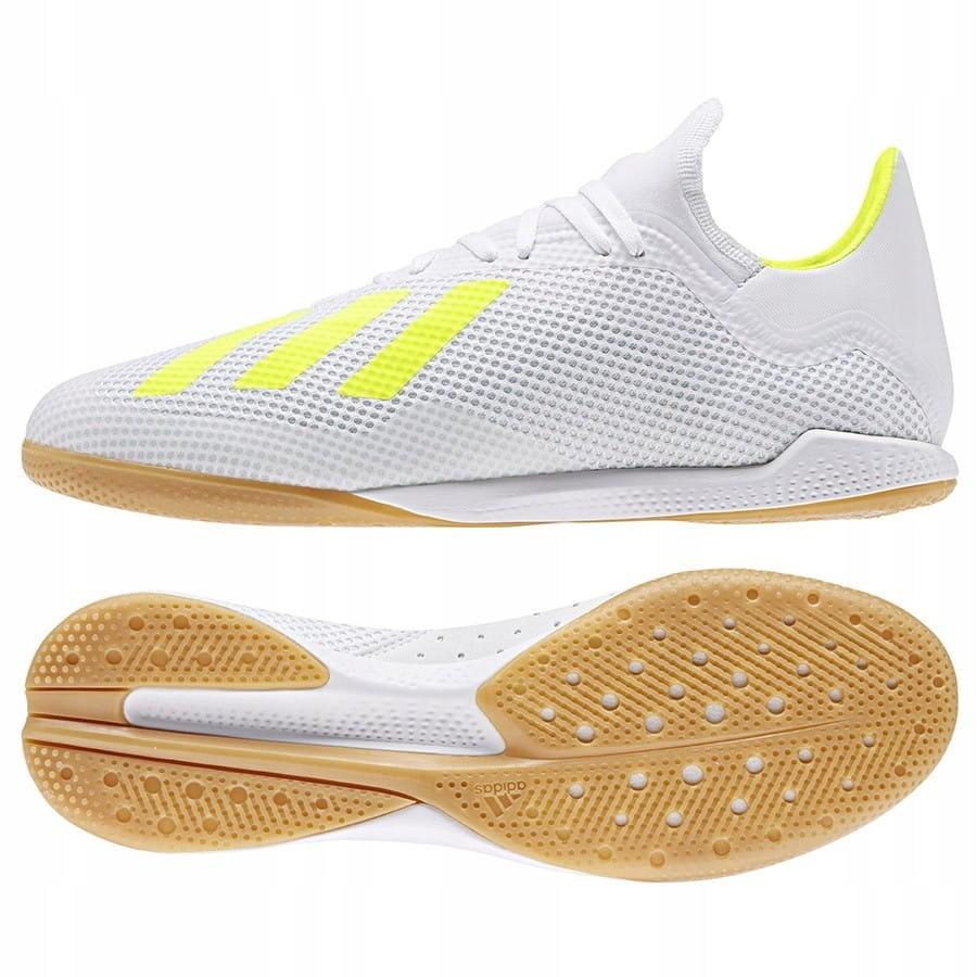 Buty adidas X 18.3 IN BB9393 - BIAŁY; 45 1/3