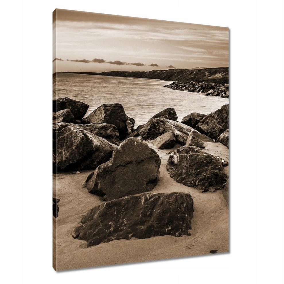 Obrazy 70x100 Zdjęcie morskiej plaży w sepii