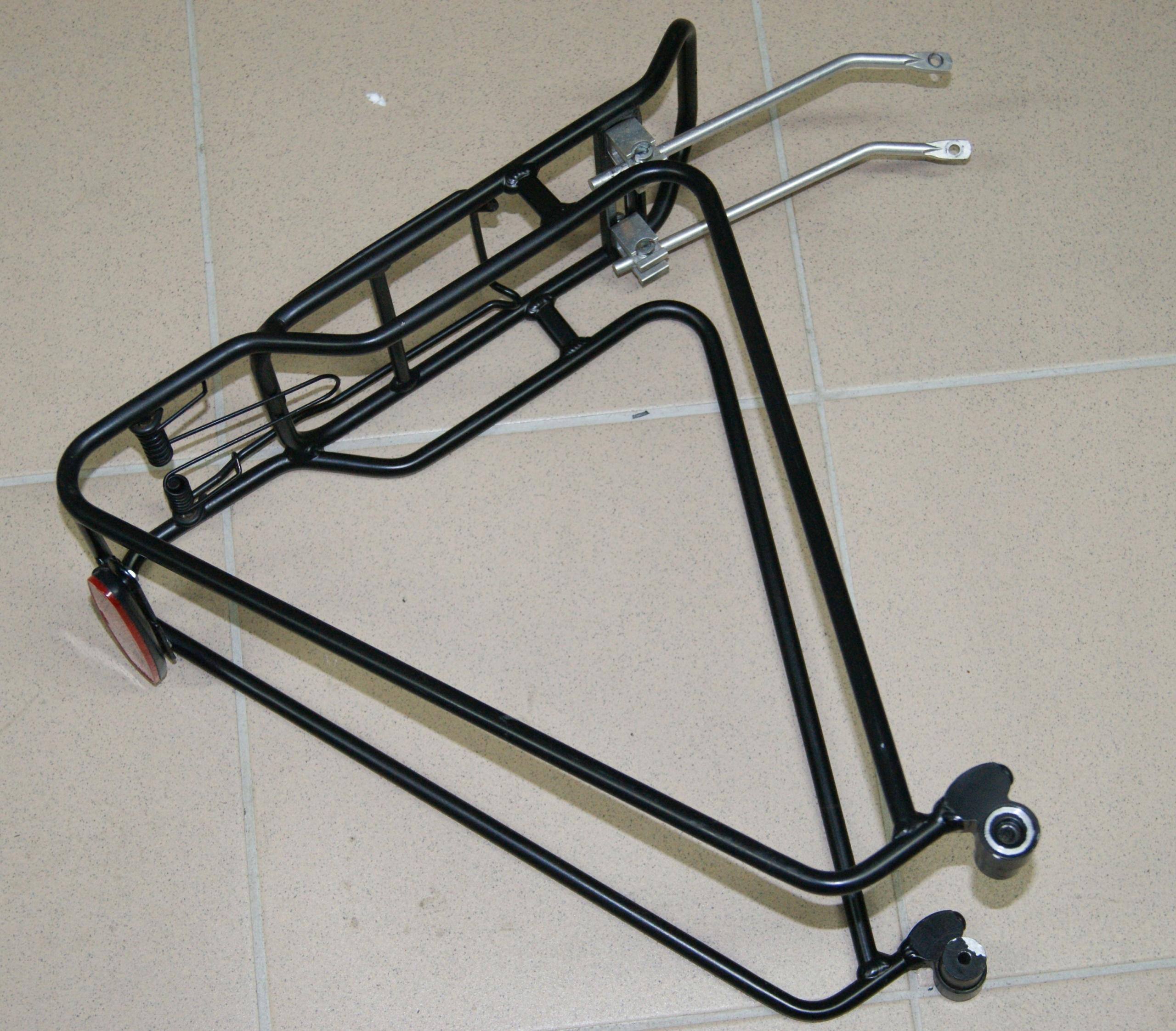 Solidny, niemiecki bagażnik rowerowy szybki montaż