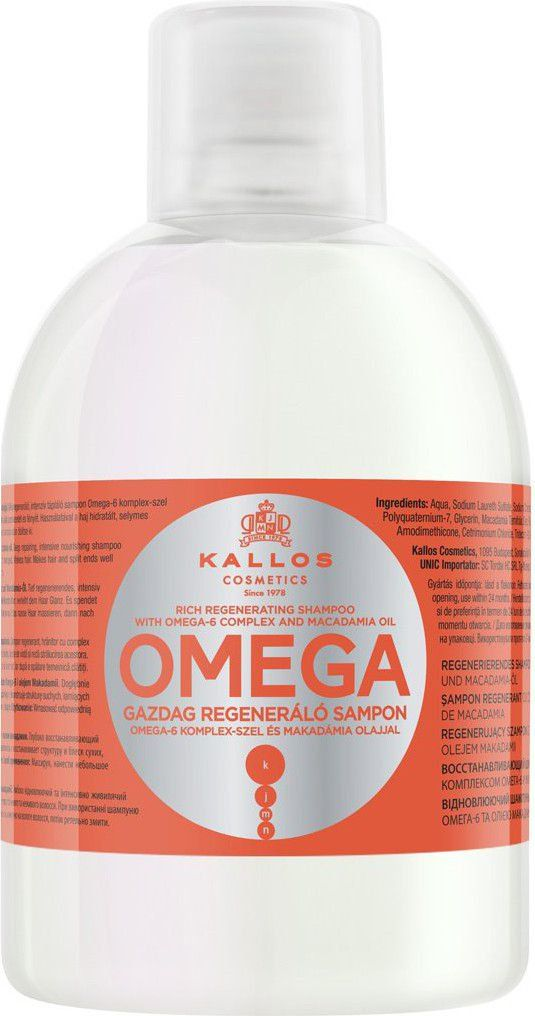 Kallos Omega Hair Shampoo 1000ml