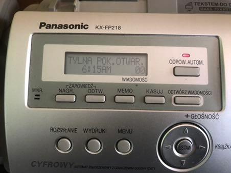 Fax Panasonic KX-FP218
