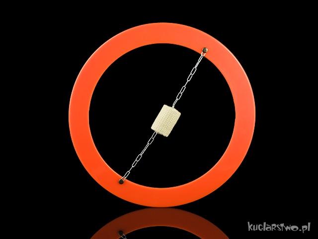 Płonąca obręcz - frisbee pomarańczowy UV