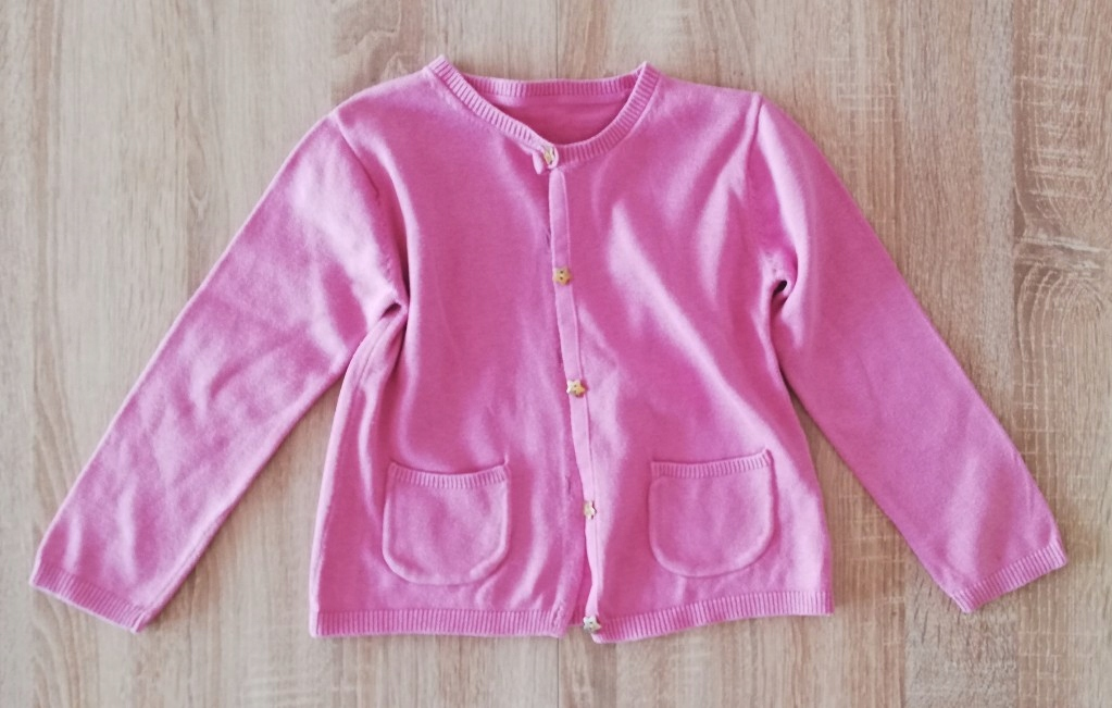 Śliczny różowy sweterek r. 98