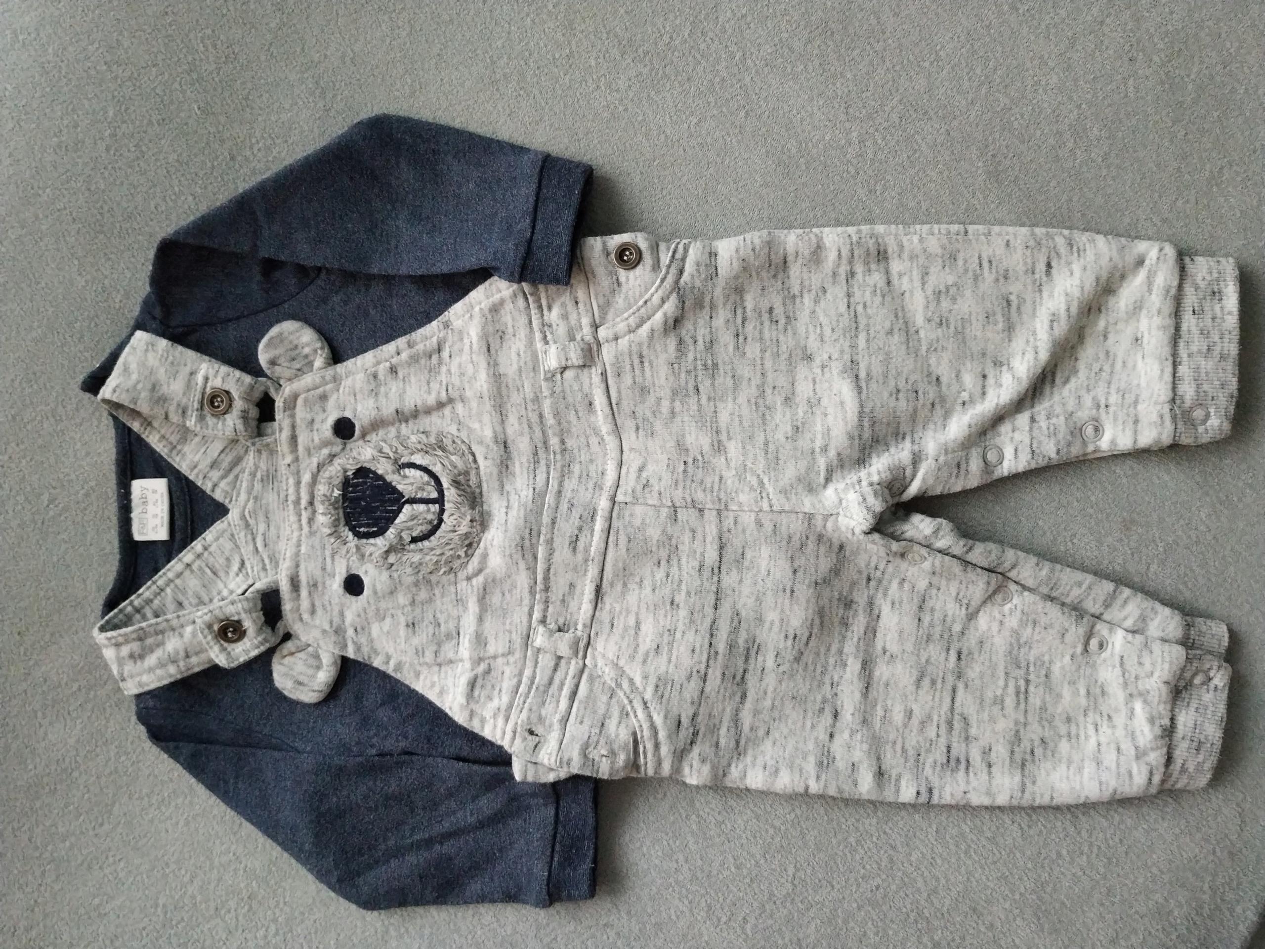 Komplet body+spodnie F&F, rozm.74; 6-9 mcy