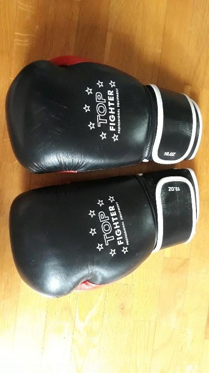 rękawice bokserskie taekwondo skórzane