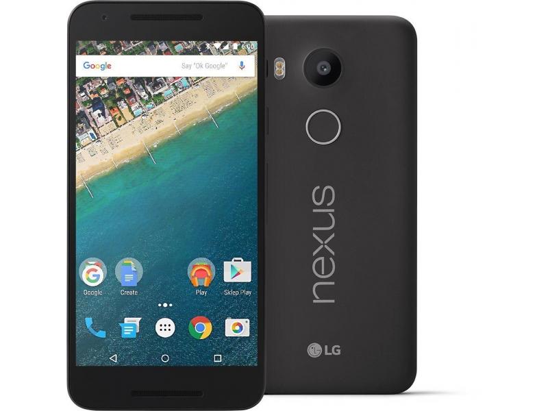 czarny LG Nexus 5X 16gb komplet bez locka