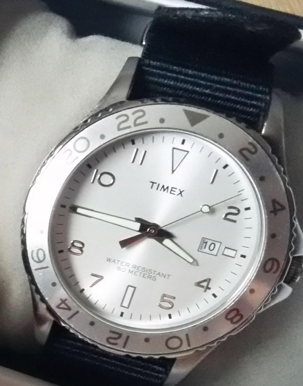 Timex zegarek bdb stan WR50M pasek NATO nylon
