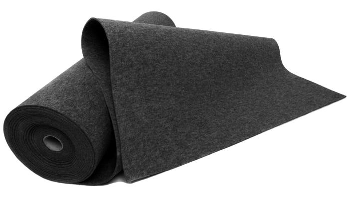 Filc GRAFITOWY 5 mm 750 g/m2 - techniczny 1.5 m2