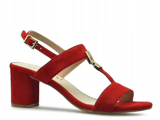 Sandały Caprice 9-28303-22 Czerwone zamsz_39