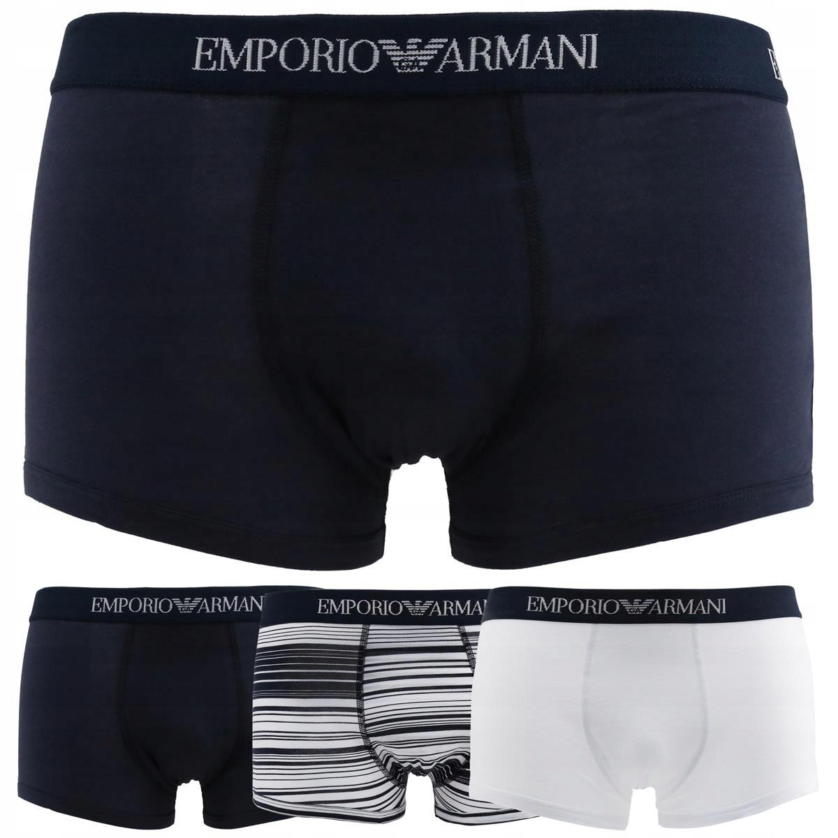 Emporio Armani bokserki męskie zestaw 3 pary L