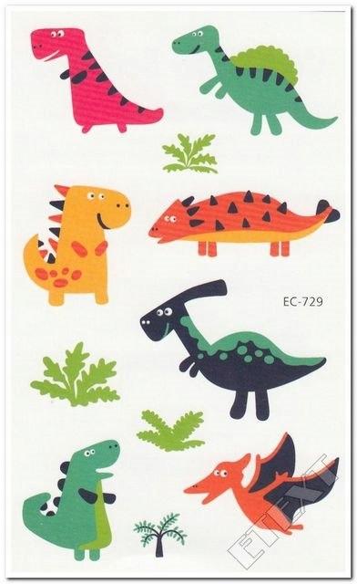 Tatuaż Tatuaże Dla Dzieci Dinozaur Dinozaury Dinek
