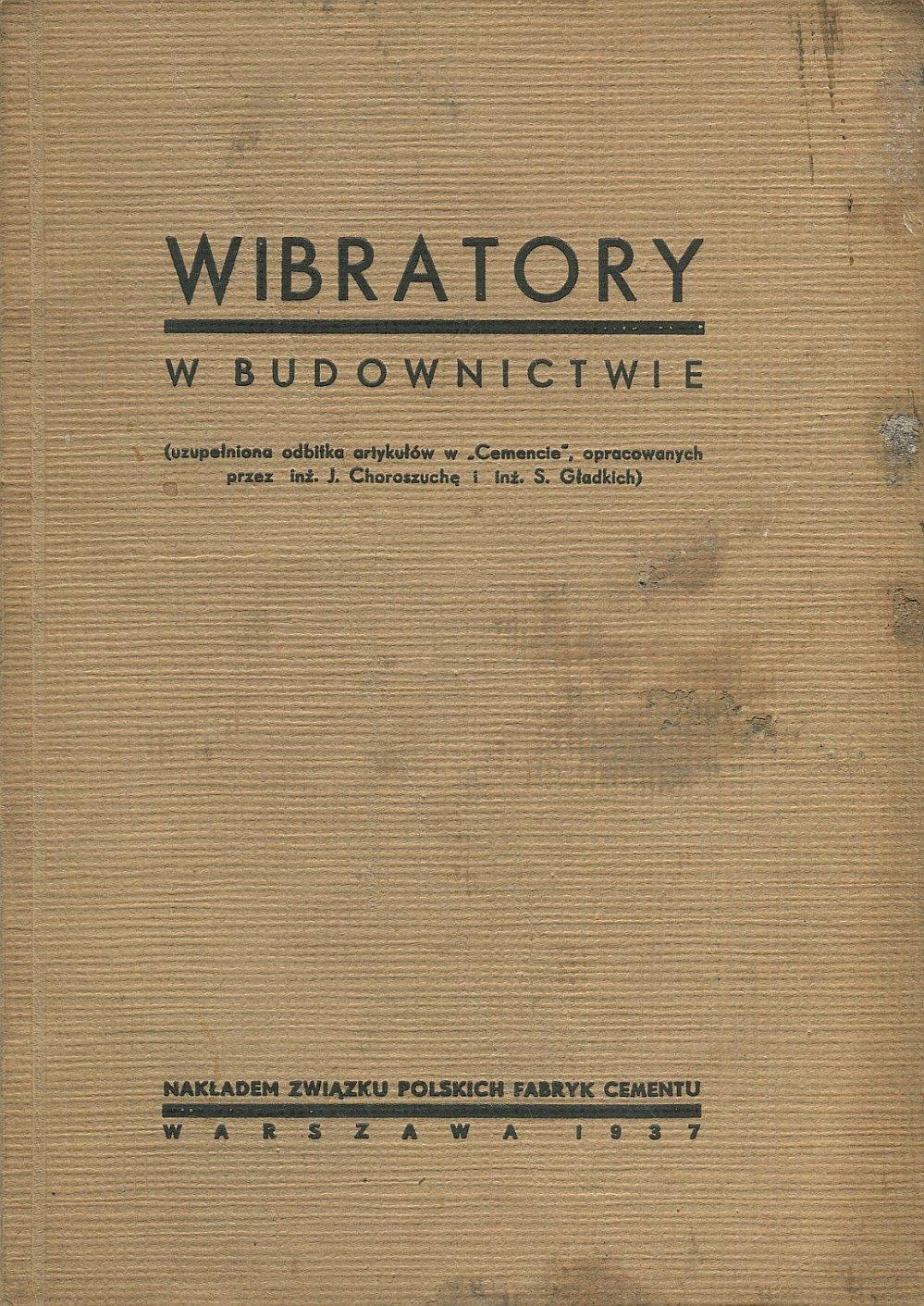 WIBRATORY W BUDOWNICTWIE 1937