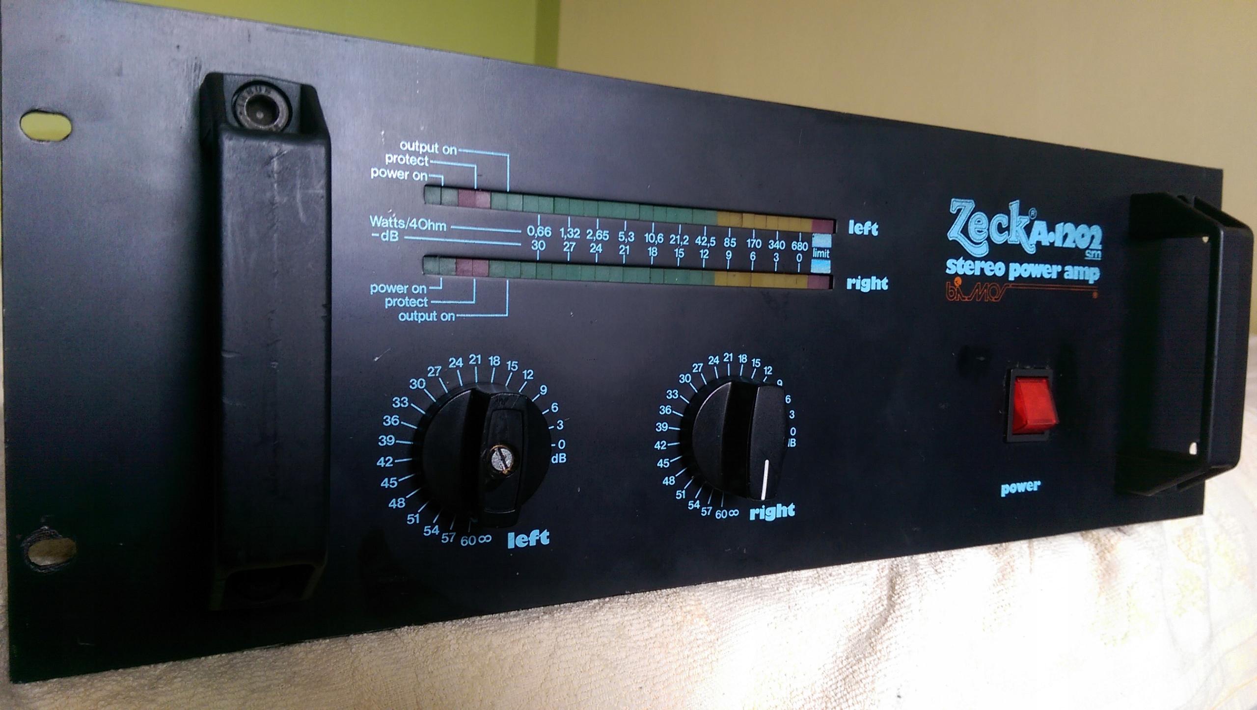 ZECK A1202 końcówka mocy