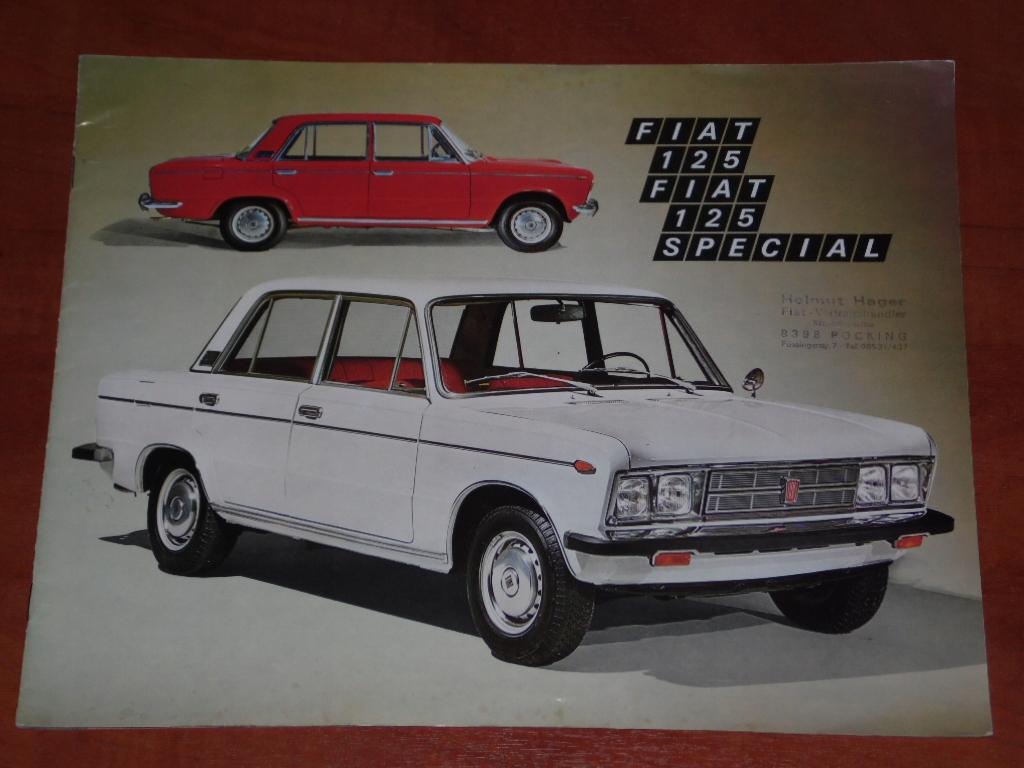 Prospekt Fiat 125 / Fiat 125 Spezial - Rok 1971