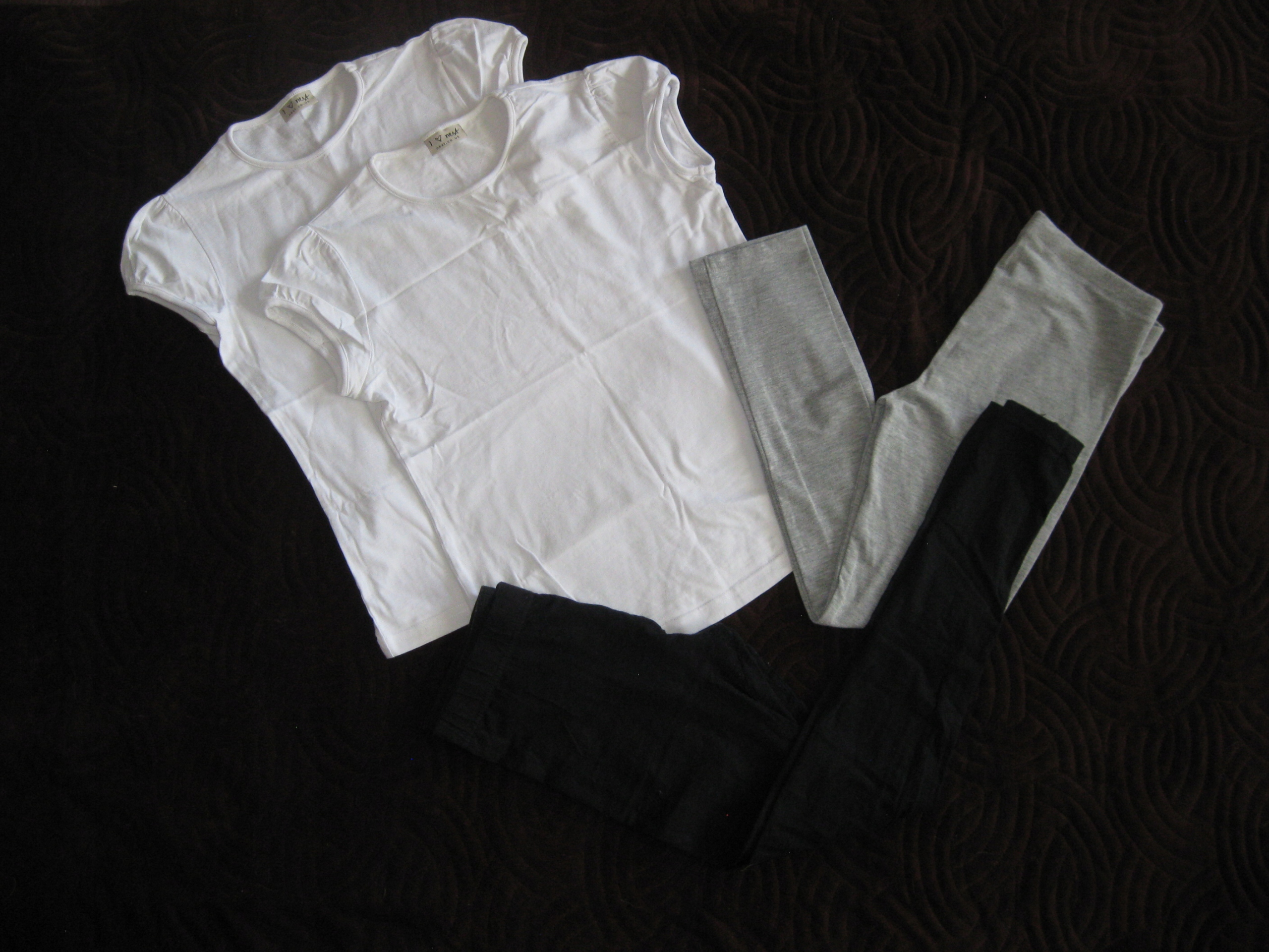 T-shirty next 2pak + leginsy george 140-146 GRATIS