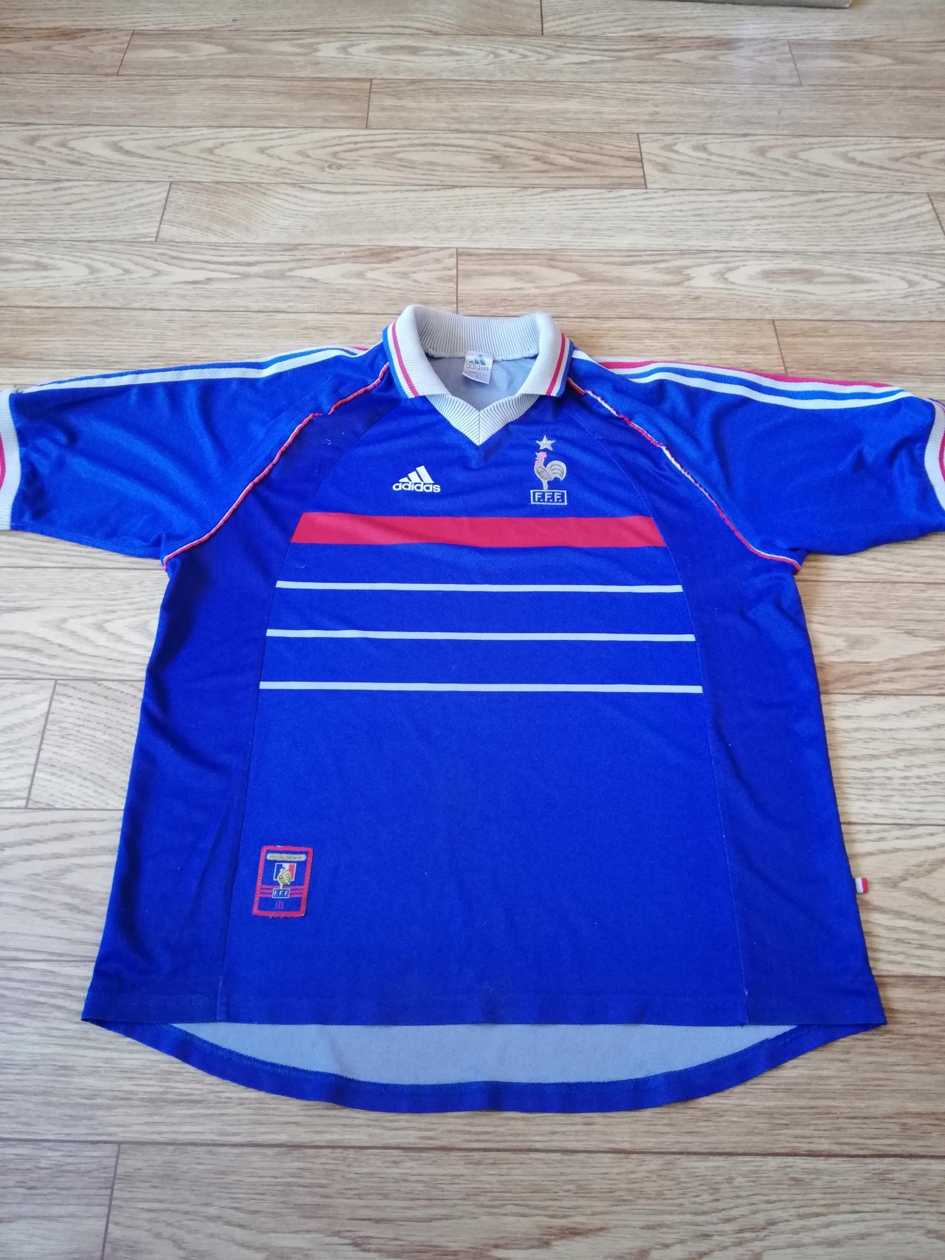 France Home football shirt 1997 - 1998
