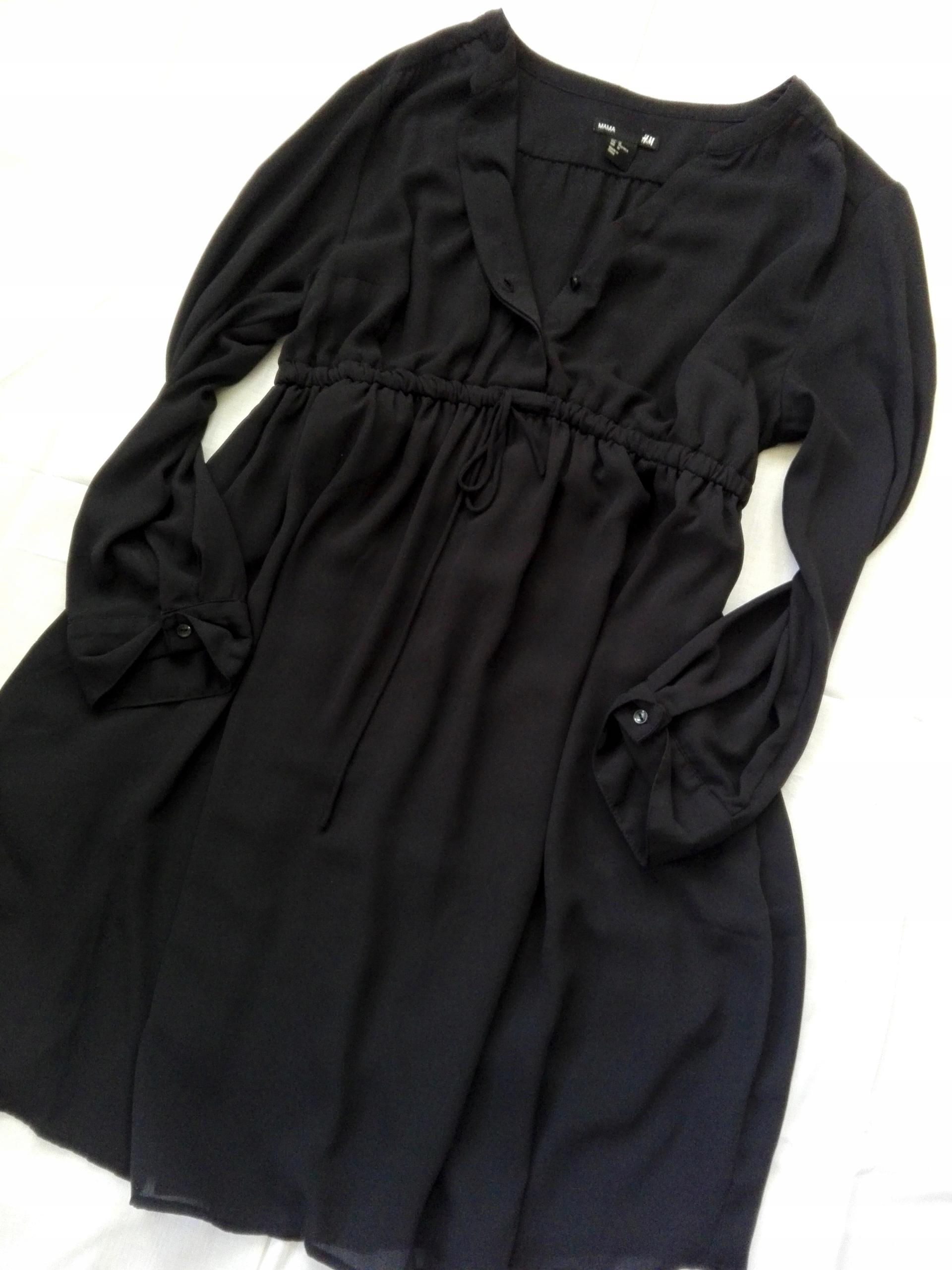 H&M MAMA ciążowa tunika sukienka CZARNA_38