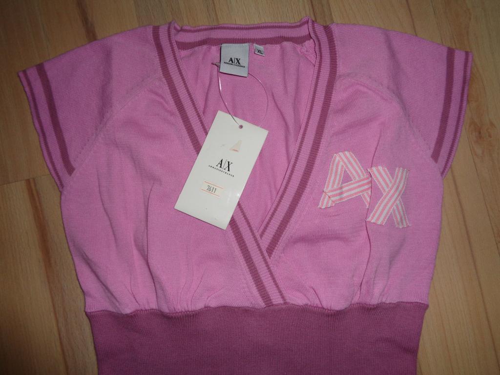 Emporio Armani EXCHANGE różowa bluzka koszulka XL