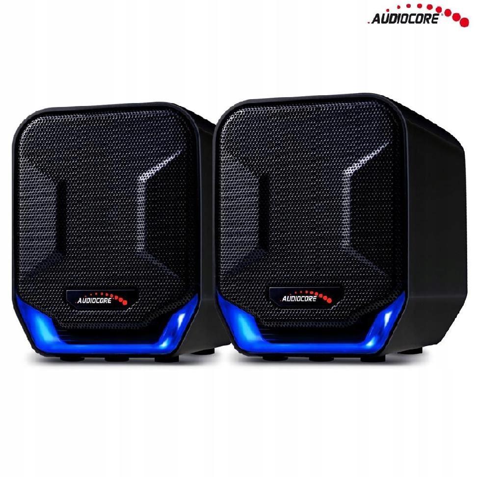 Głośniki komputerowe 6W USB AC865B czarno