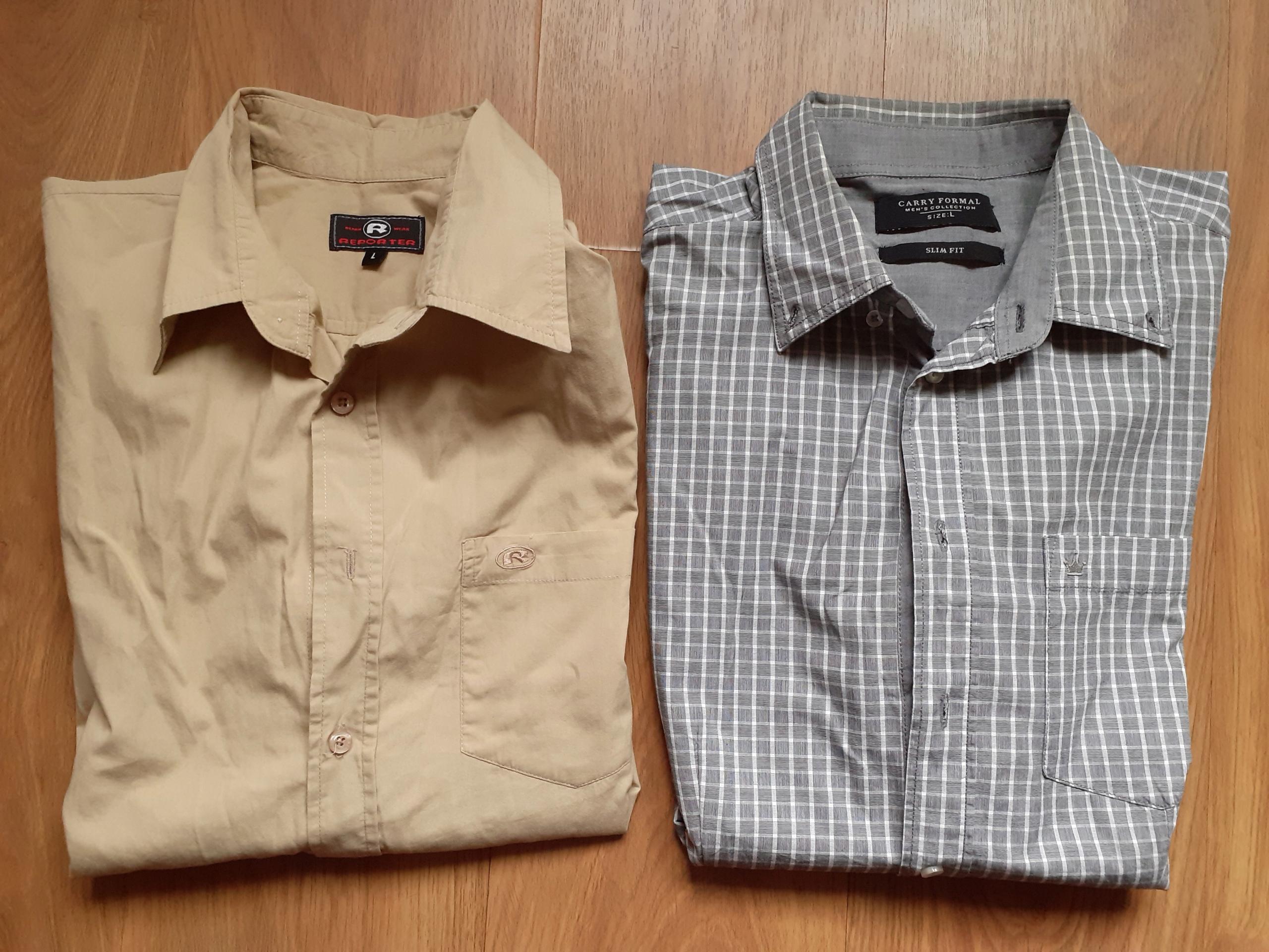 Zestaw: Koszule męskie + marynarka rozmiar L