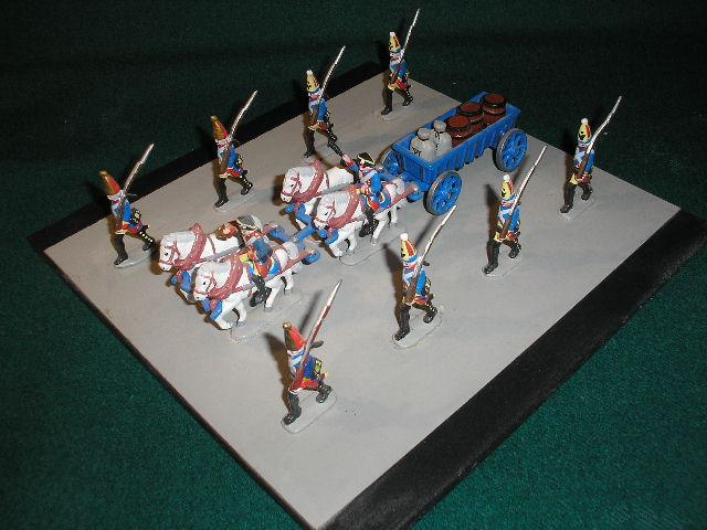 Żołnierzyki z cyny epoka Napoleońska- tabory