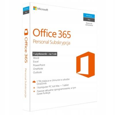 Oprogramowanie Ms Office 365 Personal