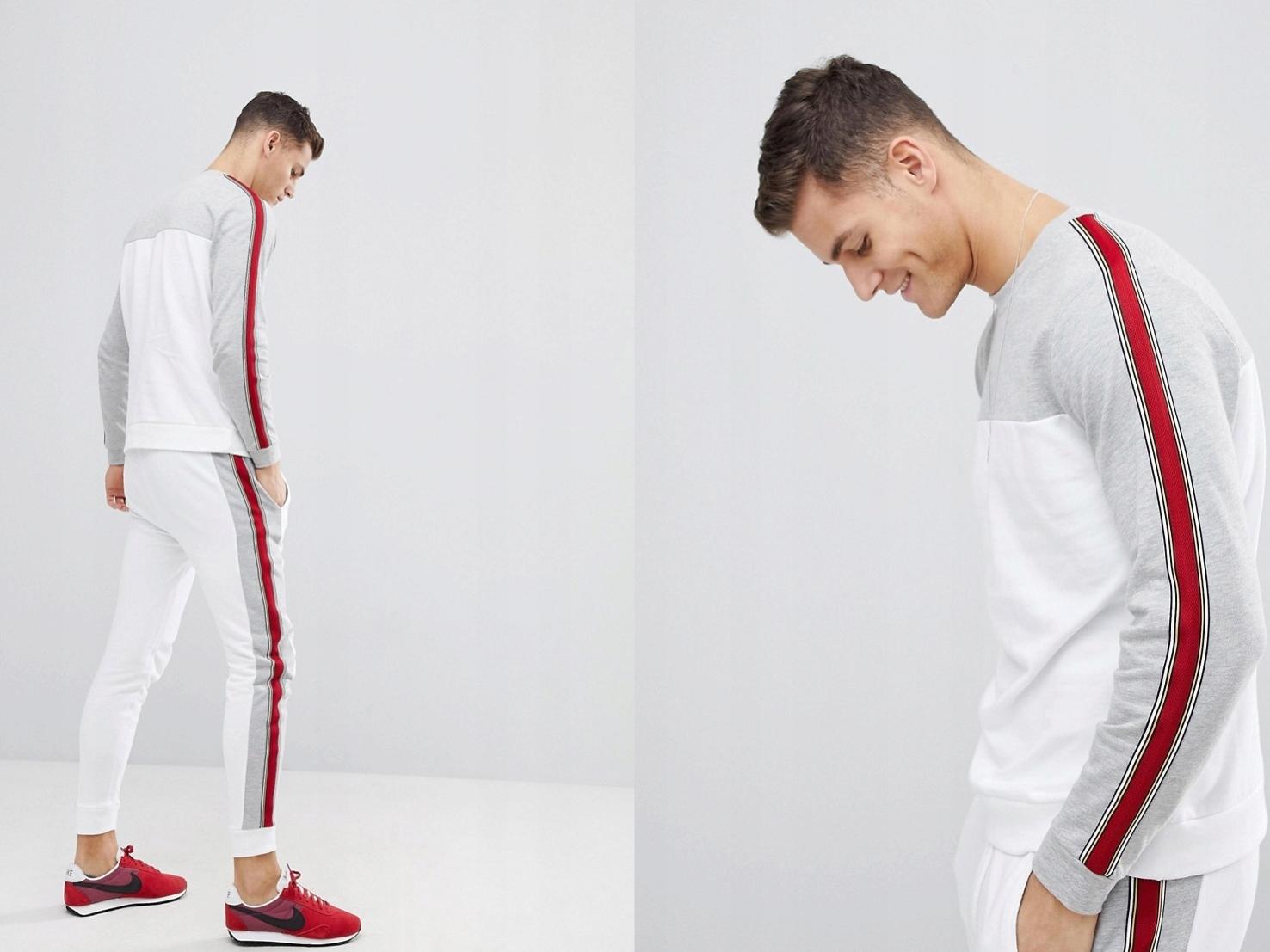 Dresy męskie komplet bluza/spodnie M