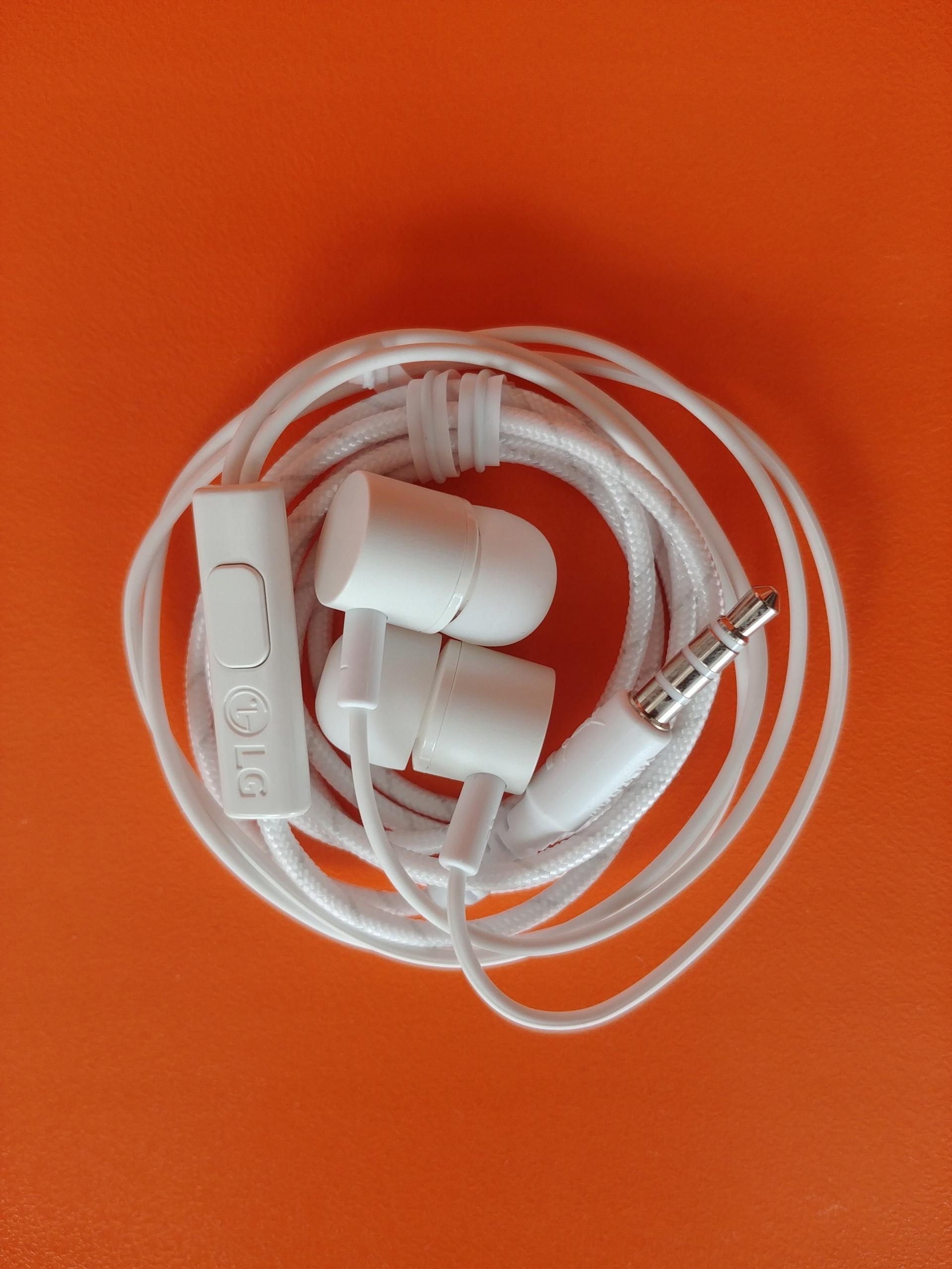 Oryginalne słuchawki LG - białe, douszne. G6 G7 G8