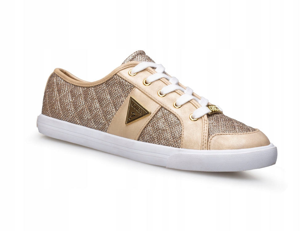 Trampki damskie buty GUESS adidasy sportowe ZŁOTE